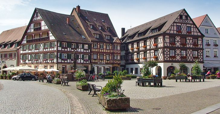 Gengenbach - Fachwerkhäuser aus dem 18. Jahrhundert am Marktplatz