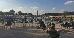 Paris – Jardin des Tuilleries mit Blick auf den Obelisk